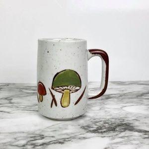 Vintage Stoneware Ceramic Mushroom Mug
